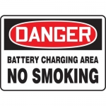 "Accuform MELC191XL, Sign ""Danger Battery Charging Area No Smoking"""