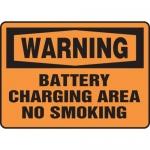 """Accuform MELC307VA, Sign """"Warning Battery Charging Area No Smoking"""""""