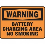 "Accuform MELC307XL, Sign ""Warning Battery Charging Area No Smoking"""