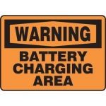 "Accuform MELC313XL, Aluma-Lite Sign ""Warning Battery Charging Area"""