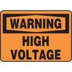 "Accuform MELC327VP, Plastic OSHA Sign ""Warning High Voltage"""