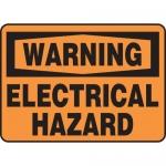 "Accuform MELC328XT, Dura-Plastic Sign ""Warning Electrical Hazard"""