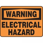 """Accuform MELC329VP, Plastic Sign """"Warning Electrical Hazard"""""""