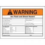 "Accuform MELC363VP, Plastic ANSI Sign ""Arc Flash and Shock Hazard"""