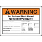 """Accuform MELC364VS, Sign """"Arc Flash and Shock Hazard Appropriate…"""""""