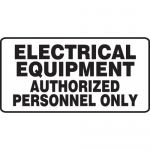 "Accuform MELC510XV, Sign ""Electrical Equipment Authorized…"""