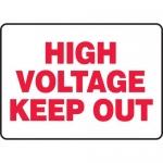 "Accuform MELC513XF, Dura-Fiberglass Sign ""High Voltage Keep Out"""