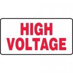 "Accuform MELC514XT, 7″ x 14″ Dura-Plastic Sign: ""High Voltage"""