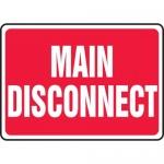 "Accuform MELC517VP, 10″ x 14″ Plastic Sign: ""Main Disconnect"""