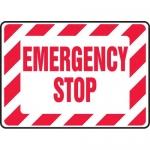 "Accuform MELC519XF, 10″ x 14″ Dura-Fiberglass Sign: ""Emergency Stop"""
