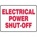 "Accuform MELC520XF, Dura-Fiberglass Sign ""Electrical Power Shut-Off"""