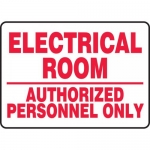 """Accuform MELC521VP, Sign """"Electrical Room Authorized Personnel Only"""""""