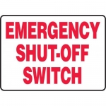 """Accuform MELC524VP, Plastic Sign """"Emergency Shut-Off Switch"""""""