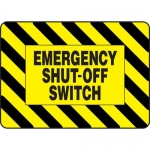 "Accuform MELC534VS, Vinyl Sign with Legend ""Emergency Shut-Off Switch"""