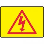"Accuform MELC535XT, Dura-Plastic Sign ""High Voltage & Hazard Symbol"""