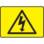 "Accuform MELC537VA, Sign ""Electrical Hazard Shock Graphic Symbol"""