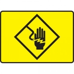 """Accuform MELC539VA, Safety Sign """"Electrical Shock Graphic Symbol"""""""