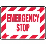 """Accuform MELC543XP, 14″ x 20″ Accu-Shield Sign: """"Emergency Stop"""""""