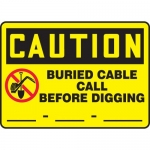 "Accuform MELC609XL, OSHA Sign ""Buried Cable Call Before Digging"""
