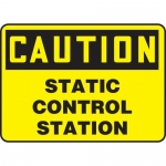 "Accuform MELC634XP, Accu-Shield Sign ""Caution Static Control Station"""