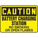 "Accuform MELC641XL, Sign ""Battery Charging Station No Smoking or …"""