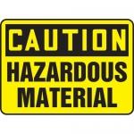 "Accuform MELC643XT, Dura-Plastic Sign ""Caution Hazardous Material"""