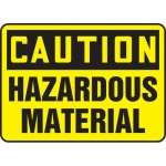 "Accuform MELC644XL, Aluma-Lite Sign ""Caution Hazardous Material"""
