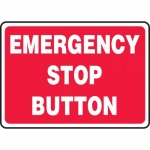 "Accuform MELC646VS, Adhesive Vinyl Sign ""Emergency Stop Button"""