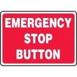 "Accuform MELC646XL, 10″ x 14″ Aluma-Lite Sign: ""Emergency Stop Button"""