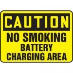 "Accuform MELC649VA, Sign ""Caution No Smoking Battery Charging Area"""