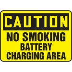 "Accuform MELC649XL, Sign ""Caution No Smoking Battery Charging Area"""