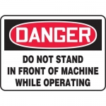 """Accuform MEQM012XT, Sign """"Do Not Stand in Front of Machine While…"""""""