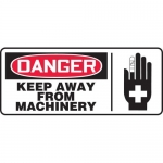 "Accuform MEQM027VP, Plastic Sign ""Danger Keep Away from Machinery"""