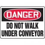 """Accuform MEQM033VA, Aluminum Sign """"Danger Do Not Walk Under Conveyor"""""""