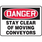 """Accuform MEQM036VP, Plastic Sign """"Stay Clear of Moving Conveyors"""""""