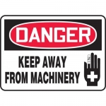 "Accuform MEQM044XF, Sign ""Danger Keep Away from Machinery"""