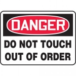 "Accuform MEQM045XF, Sign ""Danger Do Not Touch Out of Order"""