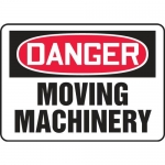 """Accuform MEQM060XT, Dura-Plastic Sign """"Danger Moving Machinery"""""""