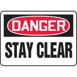 """Accuform MEQM078XT, 10″ x 14″ Dura-Plastic Sign: """"Danger Stay Clear"""""""