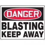 "Accuform MEQM096XL, BIGSigns Sign ""Danger Blasting Keep Away"""