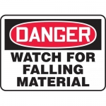 """Accuform MEQM098VP, Plastic Sign """"Danger Watch for Falling Material"""""""