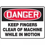 """Accuform MEQM116VP, Sign """"Keep Fingers Clear of Machine While in …"""""""