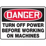"""Accuform MEQM119XF, Sign """"Turn Off Power Before Working on Machines"""""""