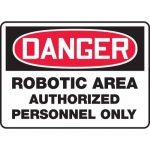 "Accuform MEQM121VA, Sign ""Robotic Area Authorized Personnel Only"""
