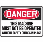 """Accuform MEQM132VS, Sign """"This Machine Must Not Be Operated …"""""""