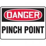 "Accuform MEQM138XL, 10″ x 14″ Aluma-Lite Sign: ""Danger Pinch Point"""
