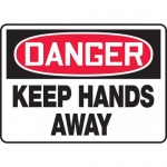 "Accuform MEQM140XT, 10″ x 14″ Dura-Plastic Sign: ""Keep Hands Away"""