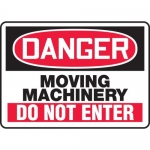 "Accuform MEQM149XF, Sign ""Danger Moving Machinery Do Not Enter"""