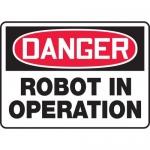 "Accuform MEQM156VP, Plastic Sign ""Danger Robot in Operation"""