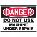 "Accuform MEQM157VS, Sign ""Danger Do Not Use Machine Under Repair"""